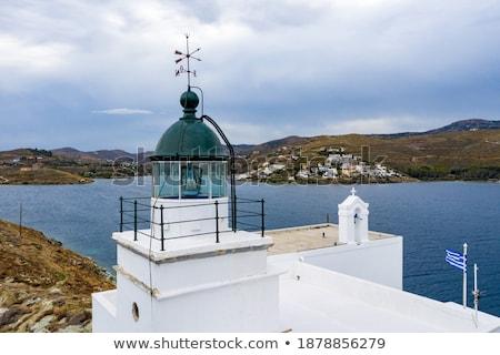 屋上 灯台 方向 矢印 青空 金属 ストックフォト © igabriela