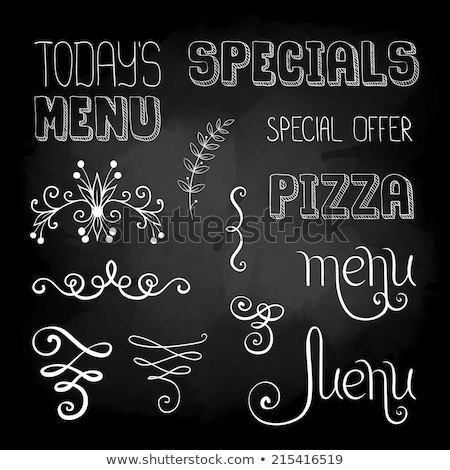 Menu of Today's specials Stock photo © bbbar