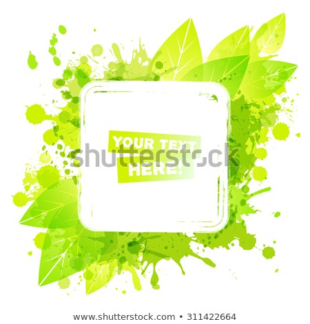 label in green leaf background with place for your text Stock photo © artush