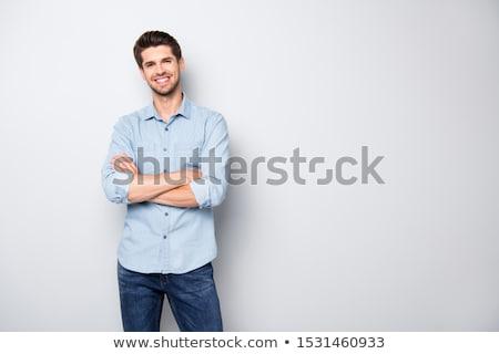 Jovem casual homem retrato isolado branco Foto stock © zittto
