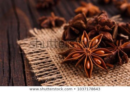 Estrela anis fundo natal cozinhar semente Foto stock © M-studio