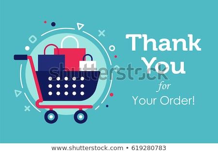 Online alışveriş üçgen Retro etiket dizayn Stok fotoğraf © tashatuvango