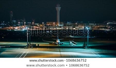 Lotniska noc stylizowany powietrza transportu budynku Zdjęcia stock © tracer
