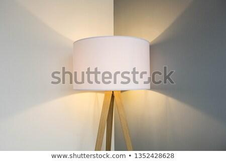 Fal lámpa árnyék fehér otthon háttér Stock fotó © art9858