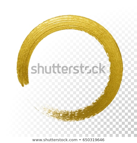 Stockfoto: Penseel · gouden · vector · icon · ontwerp · goud
