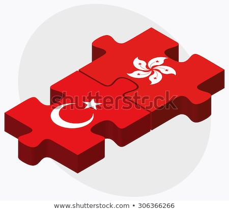 Turquia Hong Kong China bandeiras quebra-cabeça isolado Foto stock © Istanbul2009