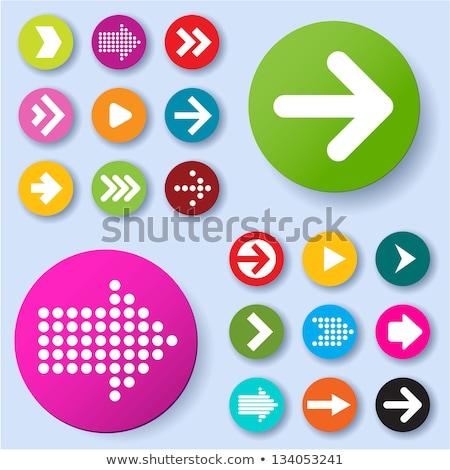 black and pink play button icon Stock photo © blaskorizov