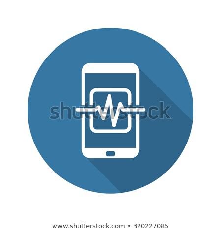 Mobil orvosi felügyelet ikon terv izolált Stock fotó © WaD