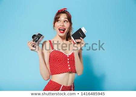 Mujer traje de baño moda resumen pelo Foto stock © shawlinmohd
