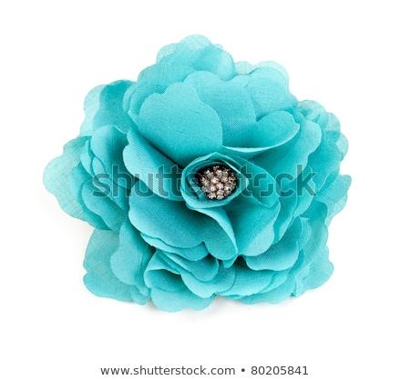 Ricamo tessuto fiore bianco design pattern fiore Foto d'archivio © lunamarina
