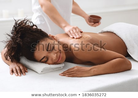 Woman having massage Stock photo © gravityimaging