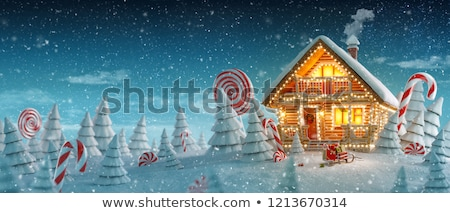 cute christmas house stock photo © adrenalina