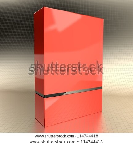 Part Of Red Cd In Box Photo stock © quka