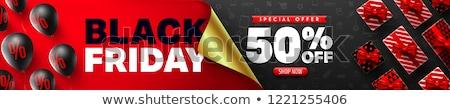 50 · sconto · offrire · banner · tutti · scatola · regalo - foto d'archivio © studioworkstock