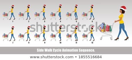 Sprite Sheet girl walking Stock photo © bluering