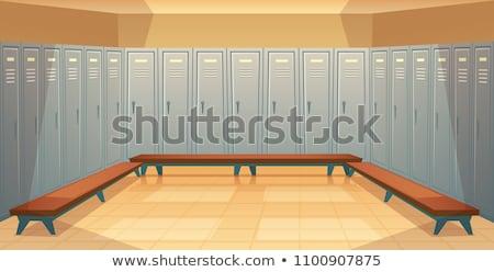 Belső öltözőszekrény próbafülke tornaterem biztonság szoba Stock fotó © boggy