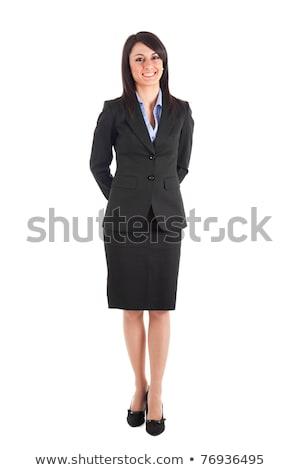 nő · üzlet · öltöny · szemüveg · illusztráció · demonstráció - stock fotó © watcartoon