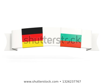 Banner with two square flags of Germany and bulgaria Stock photo © MikhailMishchenko