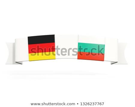Banner dwa placu flagi Niemcy Bułgaria Zdjęcia stock © MikhailMishchenko