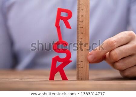 Personnes main bois souverain rouge Photo stock © AndreyPopov