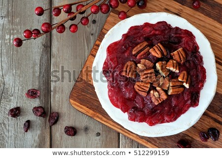 baked brie with pecans Stock photo © pancaketom