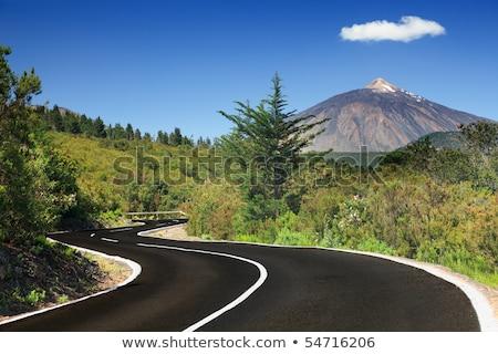 Stok fotoğraf: Winding Mountain Road In Tenerife Canary Island
