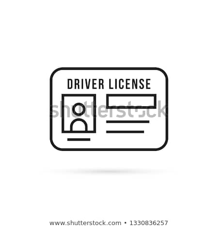 вождения лицензия икона вектора иллюстрация Сток-фото © pikepicture