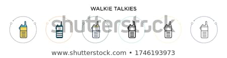 Walkie Talkie Used for Communication on Distance Stock photo © robuart
