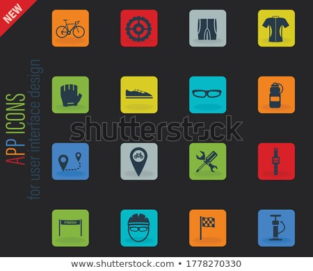 Bycicle simply icons Stock photo © ayaxmr