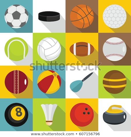 billiard 16 flat icons Stock photo © ayaxmr