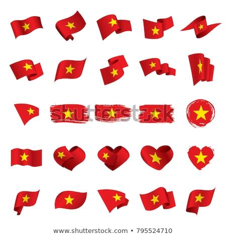 Vlag Vietnam vorm hart opschrift liefde Stockfoto © butenkow
