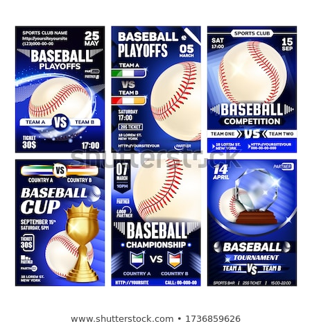 Baseball Playground Game Flyers Posters Set Vector Stock photo © pikepicture