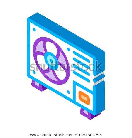 Fissato nuovo condizionatore isometrica icona vettore Foto d'archivio © pikepicture