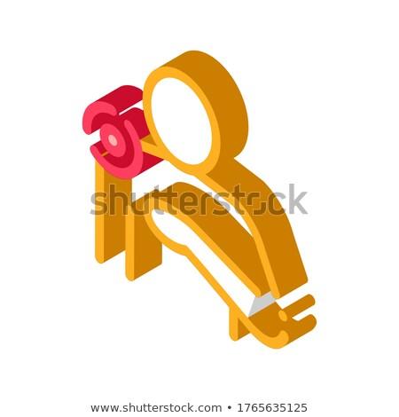 Omuz ağrısı izometrik ikon vektör imzalamak renk Stok fotoğraf © pikepicture