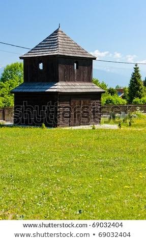 bell tower in pavcina lehota slovakia stock photo © phbcz
