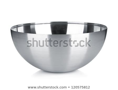 Puchar ze stali nierdzewnej biały tle metal stali Zdjęcia stock © ozaiachin