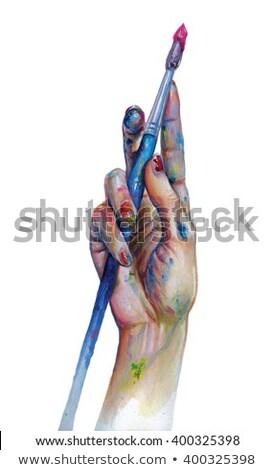 artesão · pintor · escove · casa · mão - foto stock © photography33