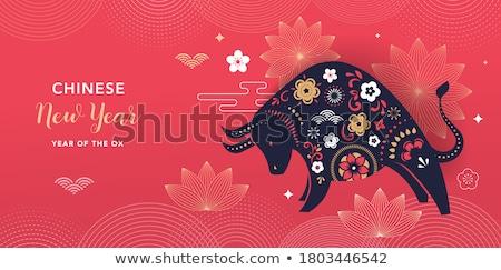 Chinese New Year background Stock photo © kawing921