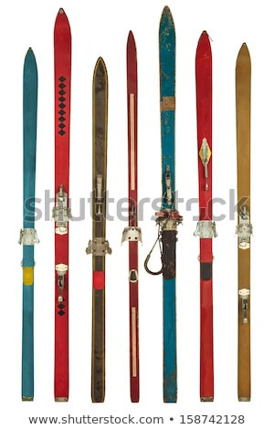 vintage pair of skis Stock photo © ozaiachin