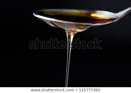 Méz kanál fekete étel narancs édes Stock fotó © wavebreak_media