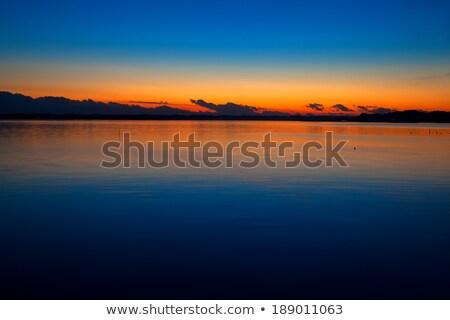 日没 龍 頭 のような 雲 湖 ストックフォト © shihina