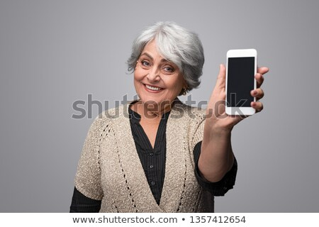 space gray smartphone with blank screen stock photo © manaemedia