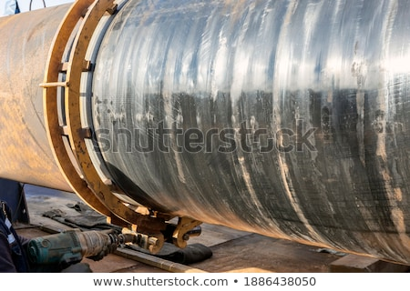 Stock photo: the pipe clamp