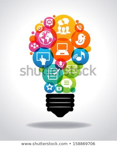 People formed as a light-bulb Stock photo © gemenacom