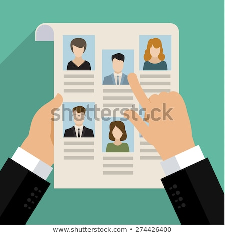 Searching for Professional Stuff. Business Concept. Flat Design. Stock photo © WaD