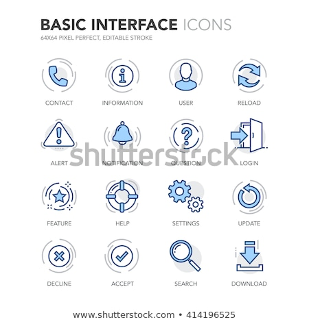 Info Blue Vector Icon Design Stock photo © rizwanali3d
