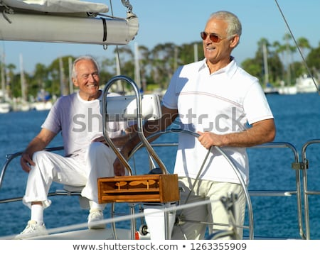 two man in a boat stock photo © smuki