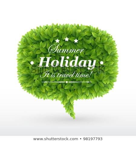 Message Green Vector Icon Design Stock photo © rizwanali3d