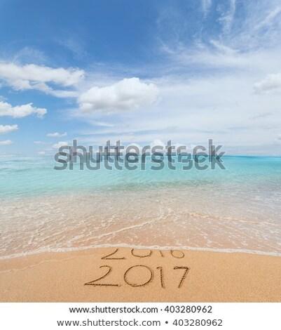 Jött fehér asztal új év renderelt kép 3d illusztráció Stock fotó © Oakozhan