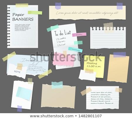 Notatka materiały biurowe Uwaga odizolowany biały działalności Zdjęcia stock © kitch